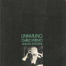 Libros de segunda mano: MIGUEL DE UNAMUNO. DIARIO INTIMO. ALIANZA. Lote 187433467