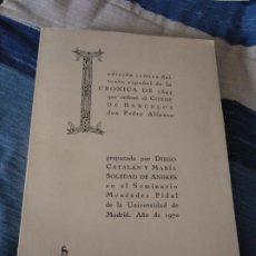 Libros de segunda mano: CRONICA DE 1344 QUE ORDENO EL CONDE DE BARCELOS. VARIOS. GREDOS, 1971. Lote 187434530