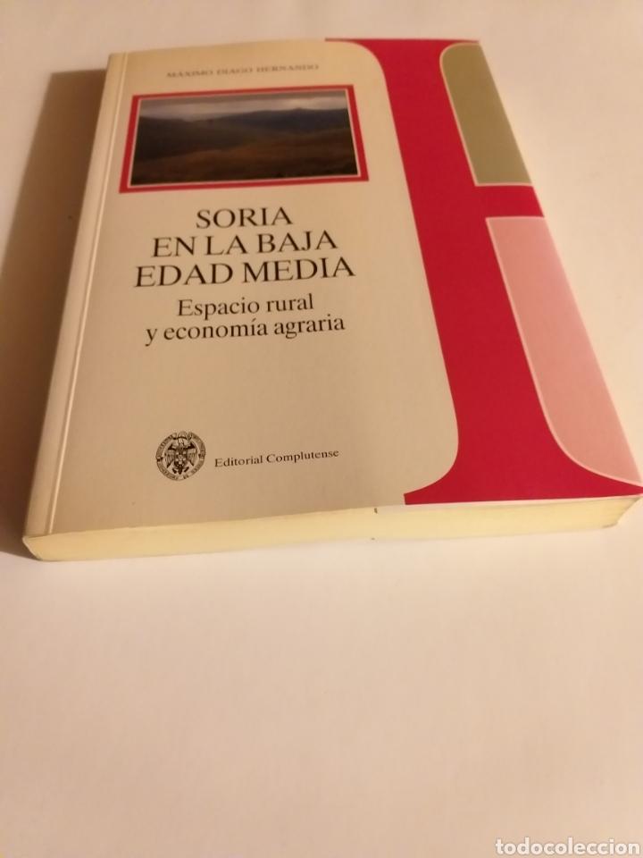 Libros de segunda mano: Soria en la Baja Edad Media espacio rural y economía agraria . Máximo Diago . Editorial Complutense - Foto 3 - 187455795