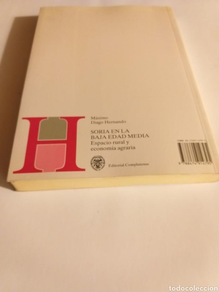 Libros de segunda mano: Soria en la Baja Edad Media espacio rural y economía agraria . Máximo Diago . Editorial Complutense - Foto 5 - 187455795