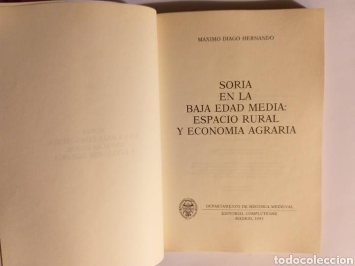 Libros de segunda mano: Soria en la Baja Edad Media espacio rural y economía agraria . Máximo Diago . Editorial Complutense - Foto 10 - 187455795