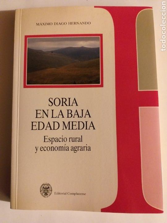 SORIA EN LA BAJA EDAD MEDIA ESPACIO RURAL Y ECONOMÍA AGRARIA . MÁXIMO DIAGO . EDITORIAL COMPLUTENSE (Libros de Segunda Mano - Historia Antigua)
