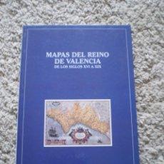 Libros de segunda mano: LIBRO. MAPAS DEL REINO DE VALENCIA DE LOS SIGLOS XVI A XIX. MUY DOCUMENTADO Y CON MUCHOS MAPAS. Lote 188537297