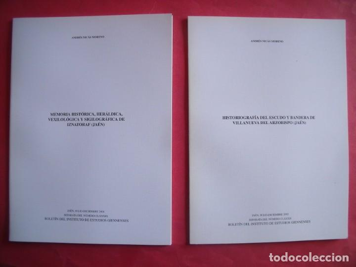 ANDRES NICAS MORENO.-IZNATORAF.-VILLANUEVA DEL ARZOBISPO.-BOLETIN INSTITUTO DE ESTUDIOS GIENNENSES. (Libros de Segunda Mano - Historia Antigua)