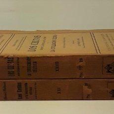 Libros de segunda mano: LOS CELTAS DESDE LA ÉPOCA DE LA TÉNE Y LA CIVILIZACIÓN CÉLTICA. 2 TOMOS. EDIT. CERVANTES.. Lote 189345253