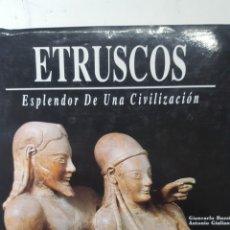 Libros de segunda mano: BUZZI / GIULIANO: ETRUSCOS. ESPLENDOR DE UNA CIVILIZACION, LAS OBRAS MAESTRAS DEL ARTE ETRUSCO 1992. Lote 189833033