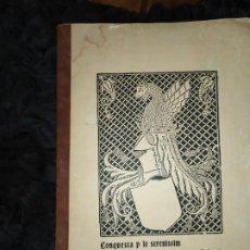 Libros de segunda mano: UNICO CONQUESTA P LO SERENISSIM DE LA CIUTAT E REGNE DE VALENCIA FACSÍMIL 1979 PARIS JAIME ARAGON?. Lote 189908502