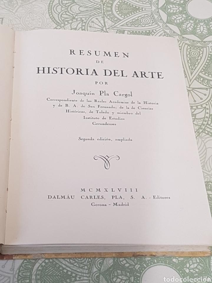 Libros de segunda mano: 1948 Joaquin Pla Cargol Resumen de Historia del Arte ilustrado - Foto 2 - 190001222