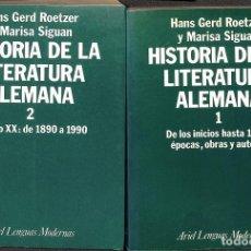 Libros de segunda mano: HISTORIA LITERATURA ALEMANA I Y II. Lote 190631362