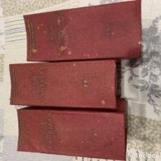 Libros de segunda mano: LUIS CANDELAS TRES TOMOS ANTIGUOS. Lote 190778001