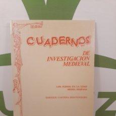 Libros de segunda mano: CUADERNOS DE INVESTIGACION MEDIEVAL.LOS JUDIOS EN LA EDAD MEDIA HISPANA.. Lote 190913745