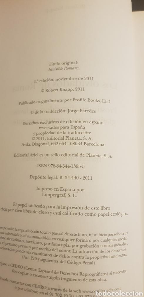 Libros de segunda mano: LOS OLVIDADOS DE ROMA - ROBERT C. KNAPP - Foto 3 - 117356595