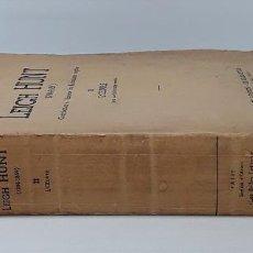 Libros de segunda mano: LEIGH HUNT 1784-1859. L. LANDRÉ. EDIT. LES BELLES-LETTRES. PARÍS. 1936.. Lote 194383040