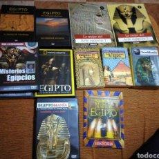 Libros de segunda mano: EGIPTO MISTERIOS DE EGIPTO ARTE EGIPCIO ENIGMA DE LA HISTORIA TUTANKAMÓN LIBROS DVD. Lote 194614417