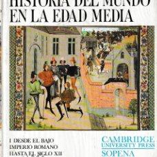 Libros de segunda mano: HISTORIA DEL MUNDO EN LA EDAD MEDIA TOMO I (EDITORIAL SOPENA 1978) AUN RETRACTILADO, SIN USAR. Lote 194720503