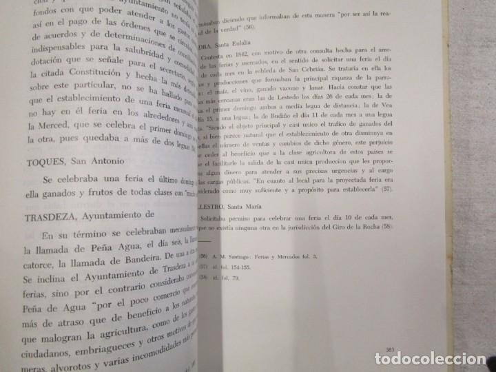 Libros de segunda mano: GALICIA HISTORIA LOCAL - FERIAS EN EL PARTIDO DE SATIAGO DE COMPOSTELA 1813, SEPARATA 1968 + INFO - Foto 2 - 194877356