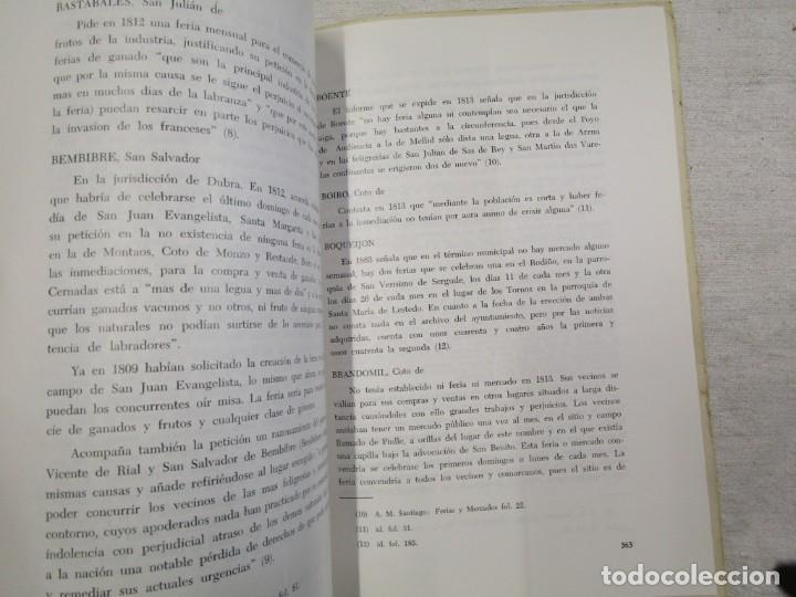 Libros de segunda mano: GALICIA HISTORIA LOCAL - FERIAS EN EL PARTIDO DE SATIAGO DE COMPOSTELA 1813, SEPARATA 1968 + INFO - Foto 3 - 194877356