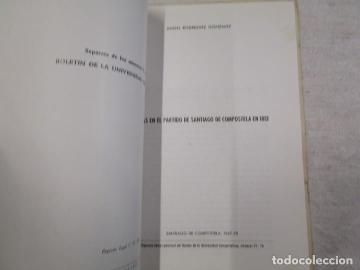 Libros de segunda mano: GALICIA HISTORIA LOCAL - FERIAS EN EL PARTIDO DE SATIAGO DE COMPOSTELA 1813, SEPARATA 1968 + INFO - Foto 4 - 194877356