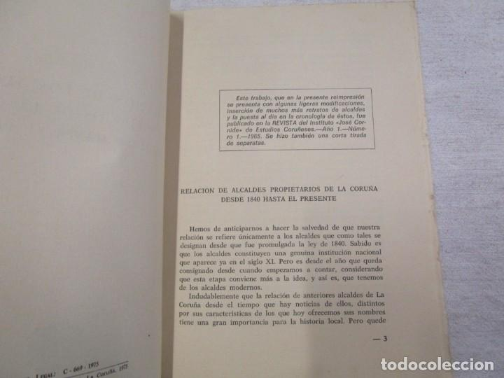 Libros de segunda mano: GALICIA LOCAL- RELACION DE LOS ALCALDES PROPIETARIOS DE LA CORUÑA DESDE 1840 - JUAN NAYA 1975 + INFO - Foto 2 - 194878583