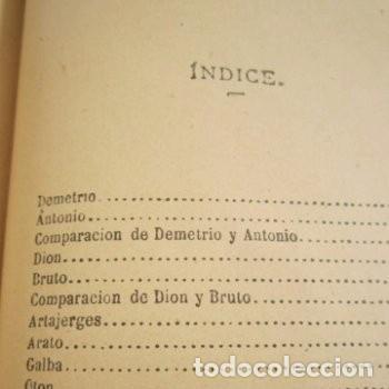 Libros de segunda mano: LAS VIDAS PARALELAS PLUTARCO 5 TOMOS COMPLETA BIBLIOTECA CLASICA 1911 EB2 - Foto 11 - 194961971