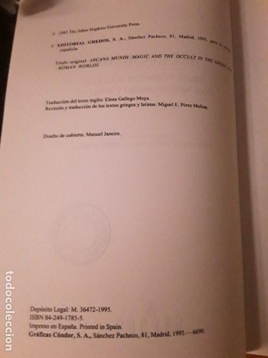 Libros de segunda mano: Arcana mundi, de Georg Luck. Magia y ciencias ocultas en el mundo griego y romano. Gredos, - Foto 4 - 195019207