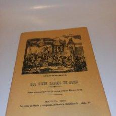 Libros de segunda mano: HISTORIA DE LOS SIETE SABIOS DE ROMA. Lote 195153692