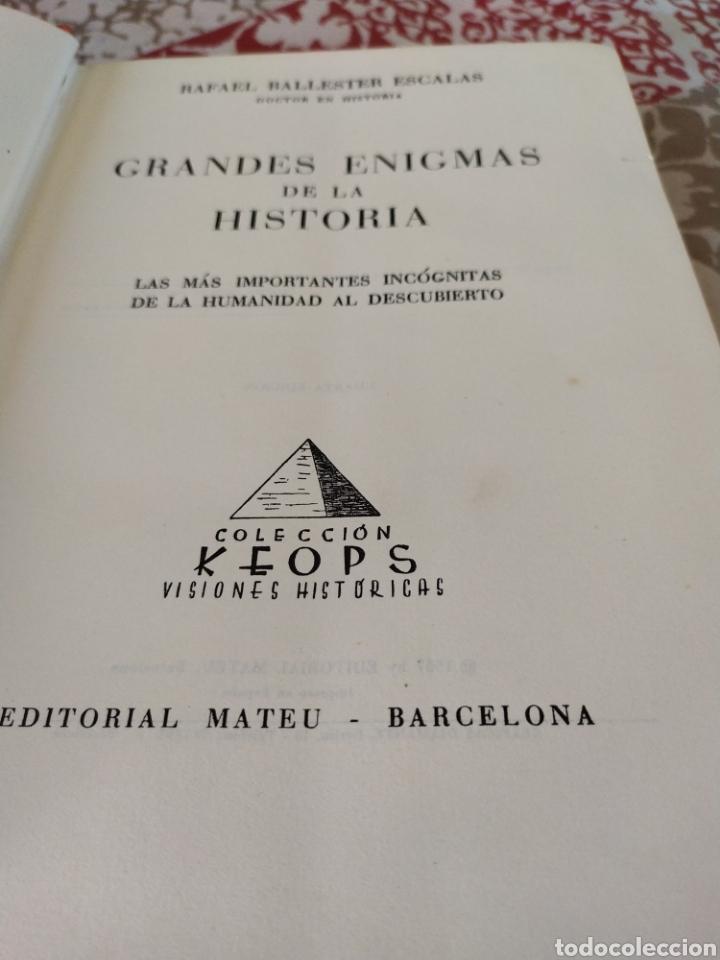 Libros de segunda mano: Grandes enigmas de la historia - Foto 2 - 195367457