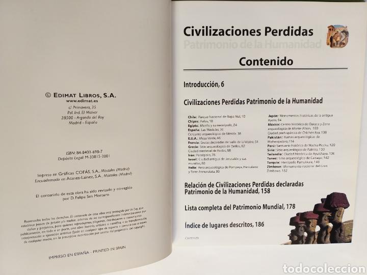 Libros de segunda mano: Civilizaciones perdidas . Patrimonio de la Humanidad . Edimat libros 2001 . . Arte historia antigua - Foto 6 - 195368210