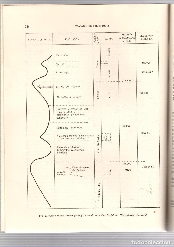 Libros de segunda mano: NUEVA LUZ SOBRE EL PALEOLITICO FINAL Y EL NEOLITICO EN EGIPTO. MARTIN ALMAGRO BASCH. 1972 - Foto 3 - 195378407