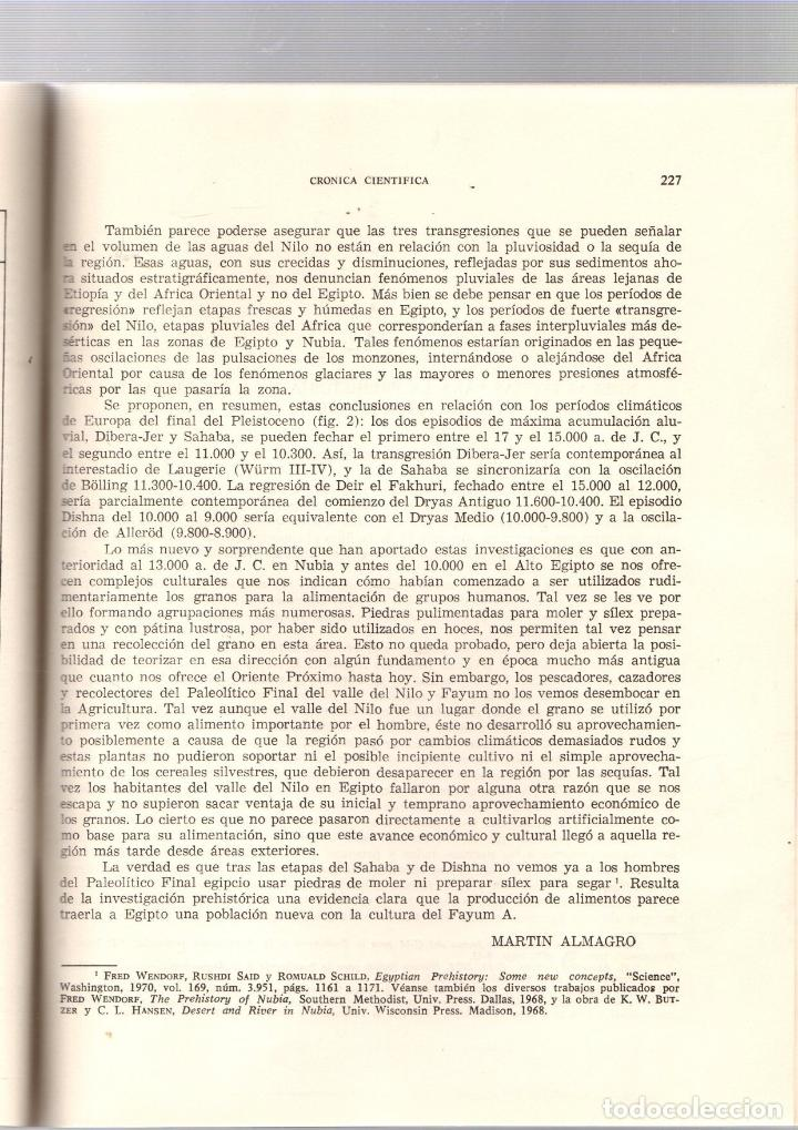 Libros de segunda mano: NUEVA LUZ SOBRE EL PALEOLITICO FINAL Y EL NEOLITICO EN EGIPTO. MARTIN ALMAGRO BASCH. 1972 - Foto 4 - 195378407