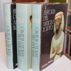 Libros de segunda mano: JACQUES PIRENNE - HISTORIA DEL ANTIGUO EGIPTO. 3 TOMOS COMPLETA - OCÉANO EDICIÓN 1982. Lote 195391058