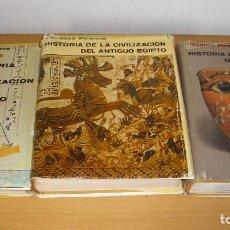 Libros de segunda mano: HISTORIA DE LA CIVILIZACIÓN DEL ANTIGUO 3 TOMOS EGIPTO EDITORIAL ÉXITO JACQUES PIRENNE 1971. Lote 195545837