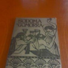 Libros de segunda mano: LIBRO SODOMA Y GOMORRA .EDICIONES RODEGAR 1964. Lote 195733938