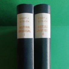 Libros de segunda mano: ERNST J.GÖRLICH HISTORIA UNIVERSAL TOMO I Y II. Lote 197761150