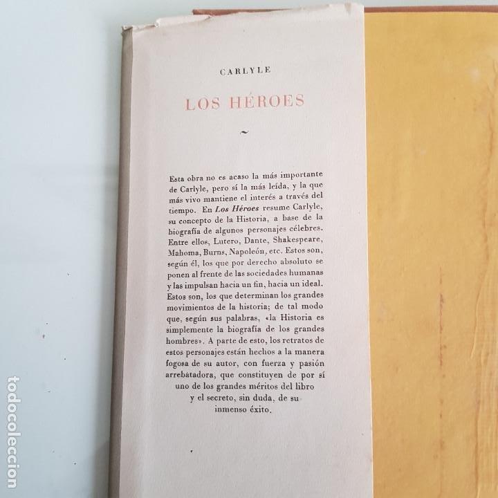 Libros de segunda mano: LIBRO, LOS HÉROES, DE THOMAS CARLYLE - Foto 2 - 199492658