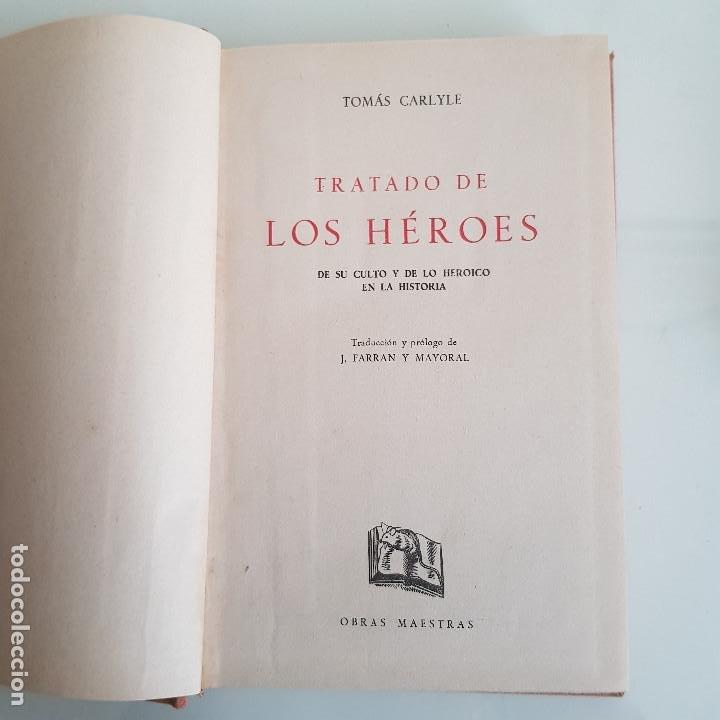 Libros de segunda mano: LIBRO, LOS HÉROES, DE THOMAS CARLYLE - Foto 6 - 199492658