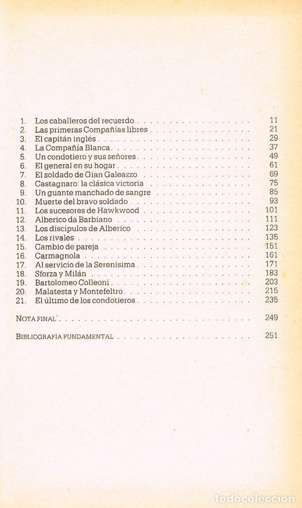 Libros de segunda mano: Los condotieros, soldados de fortuna por Geoffrey Trease, ver indice en fotografia interior - Foto 2 - 200066701