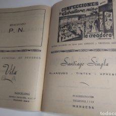 Libros de segunda mano: LIBRO CENTRO EXCURSIONISTA DE LA COMARCA DEL BAGES CON PROPAGANDA COMERCIOS DE MANRESA. Lote 201141832