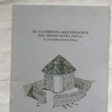 Libros de segunda mano: EL YACIMIENTO ARQUEOLOGICO DEL MONTE DE SANTA TECLA (LA GUARDIA POMTEVEDRA) 1997 GRUPO DE ARQUEOLOGI. Lote 201238757