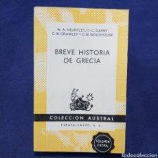 Libri di seconda mano: BREVE HISTORIA DE GRECIA - VARIOS AUTORES -COLECCIÓN AUSTRAL Nº 1417. Lote 201334617