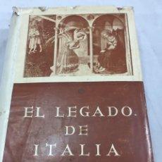 Libros de segunda mano: EL LEGADO DE ITALIA. GIUSEPPE PREZZOLINI. PEGASO 1955. Lote 202844198