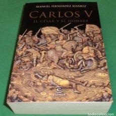 Libros de segunda mano: CARLOS V. EL CÉSAR Y EL HOMBRE - MANUEL FERNÁNDEZ ÁLVAREZ [LIBRO NUEVO]. Lote 203572622