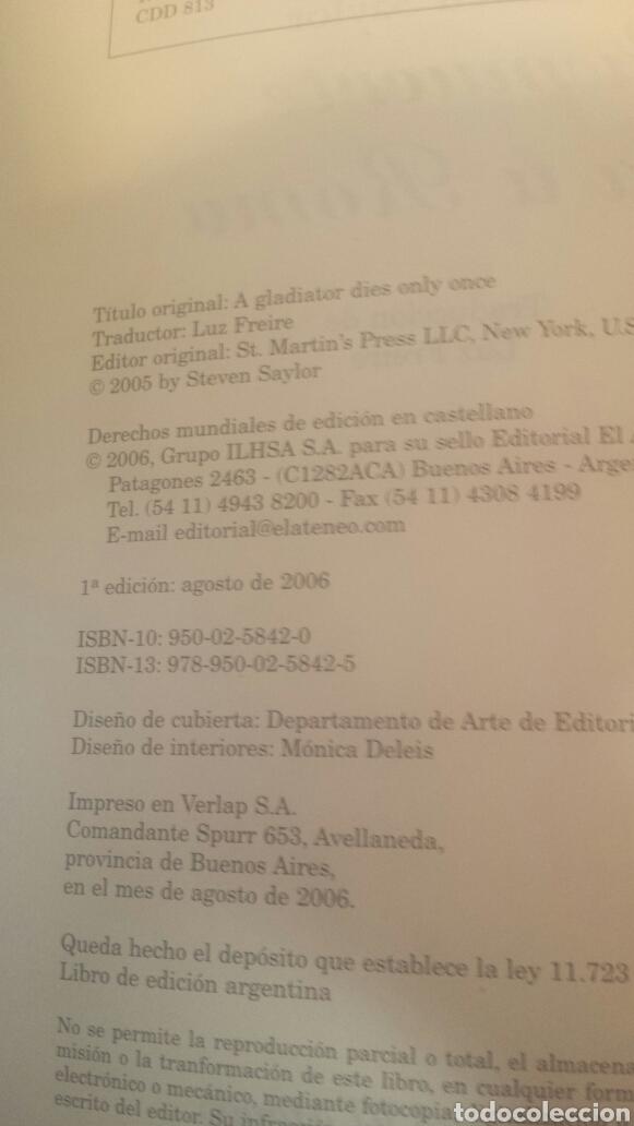 Libros de segunda mano: La muerte llega a Roma - Foto 2 - 203858430
