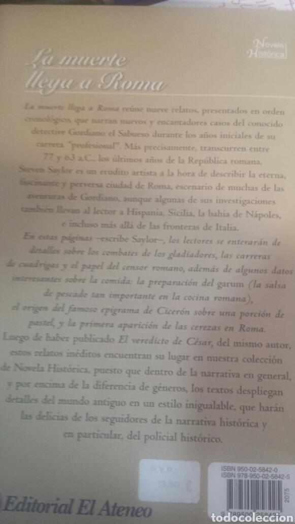Libros de segunda mano: La muerte llega a Roma - Foto 3 - 203858430