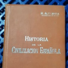 Libros de segunda mano: HISTORIA DE LA CIVILIZACION ESPAÑOLA - ALTAMIRA. Lote 206148136