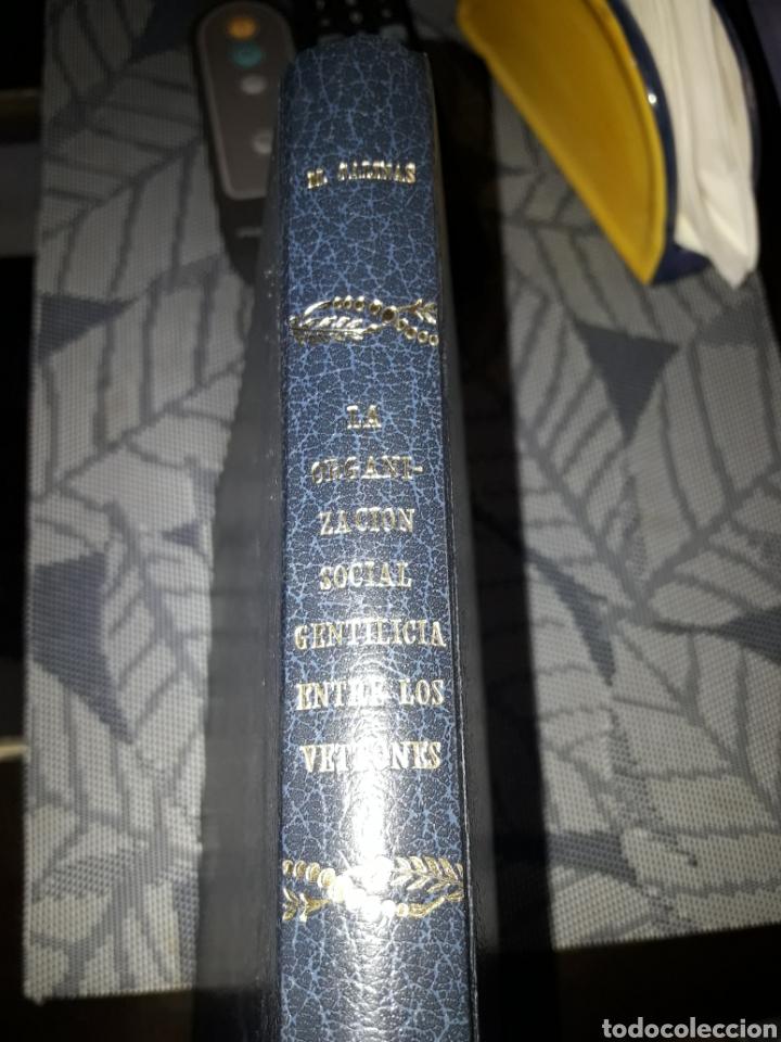 MANUEL SALINAS DE FRÍAS. LA ORGANIZACIÓN SOCIAL GENTILICIA ENTRE LOS VETTONES. FIRMADO. VER DETALLES (Libros de Segunda Mano - Historia Antigua)