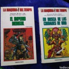Libros de segunda mano: LA MAQUINA DEL TIEMPO EL IMPERIO MONGOL N 20 Y EN BUSCA DE LAS CIUDADES DEL ORO 15 TIMUN MÁS. Lote 207023607