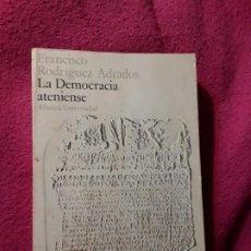 Libros de segunda mano: LA DEMOCRACIA ATENIENSE, DE FRANCISCO RODRÍGUEZ ADRADOS (GRECIA ANTIGUA). Lote 206594081