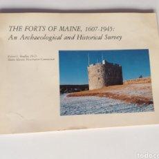 Libros de segunda mano: THE FORTS OF MAINE 1607 1945 .ANNE ARCHAEOLOGICAL AND HISTORICAL SURVEY .CASTILLOS FORTALEZAS. Lote 207396788