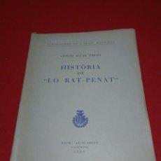 Libros de segunda mano: LIBRO ANTIGUO HISTORIA DE LO RAT-PENAT. Lote 208053946